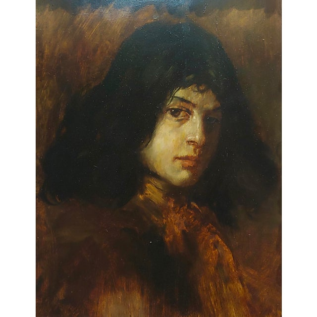 Italian German School-Portrait of a Good-Looking Man-Oil Painting-C1900s For Sale - Image 3 of 10