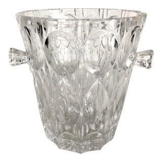 Mid-Century Modern Crystal Ice Bucket With Handles