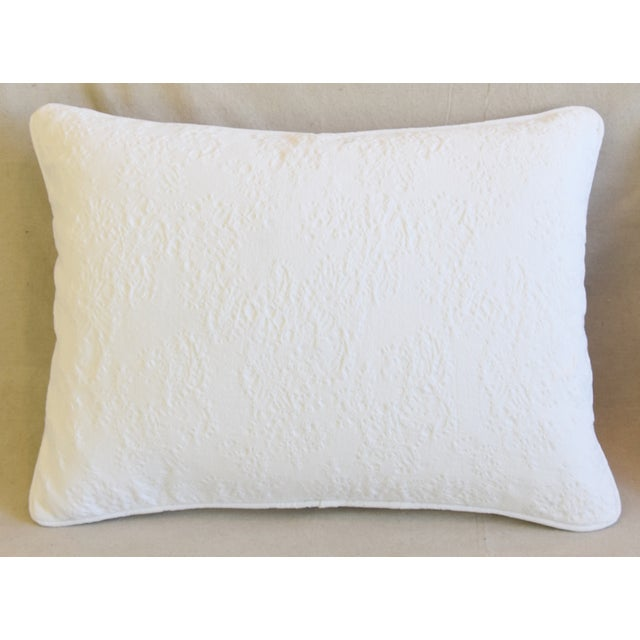 """American French Provençal Quilted Feather/Down Pillows 23"""" X 17"""" - Pair For Sale - Image 3 of 13"""