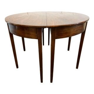 Circa 1780 Antique English Double Demi-Lune Table For Sale