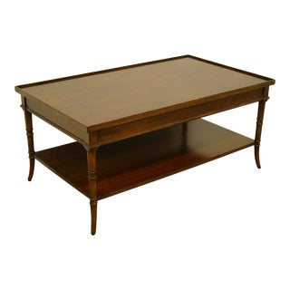 """Asian Modern Bernhardt Furniture Solid Walnut Asian Inspired 44"""" Accent Cocktail Table For Sale"""