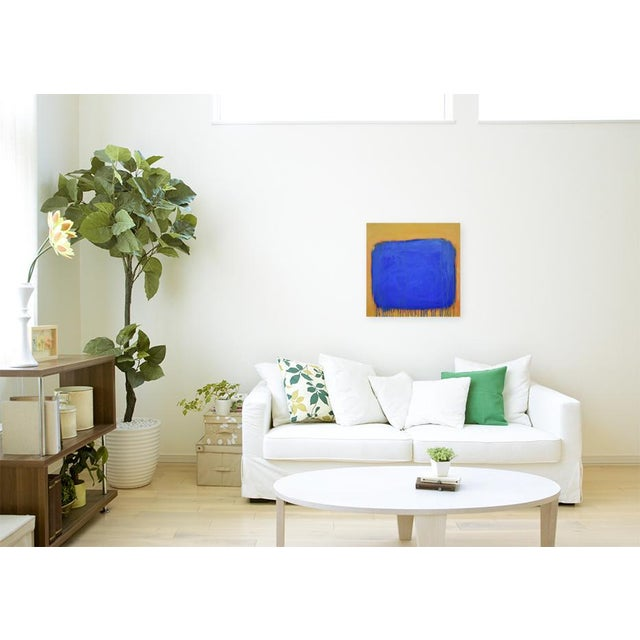 """The Sun Came Up and It Was Blue and Gold"" Contemporary Abstract Painting by Stephen Remick For Sale - Image 9 of 11"