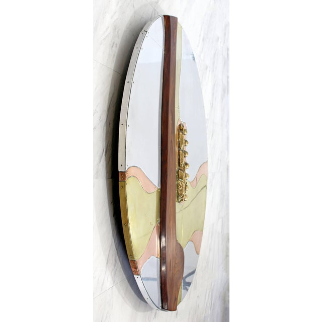 Mid-Century Modern Thom Wheeler Brutalist Brass Copper Wall Sculpture, 1978 For Sale - Image 4 of 9