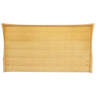 Sculptured Concave Shape Birch Queen Size Headboard For Sale