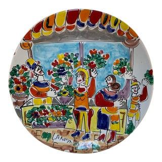 La Musa Desimone Italy Flower Market Decorative Wall/Serving Plate For Sale