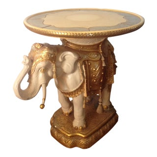 Vintage Moroccan Gold Elephant Dining Table