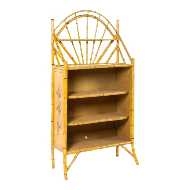 19th Century English Bamboo Bookshelf With Lovely Painted Finish For Sale - Image 4 of 4