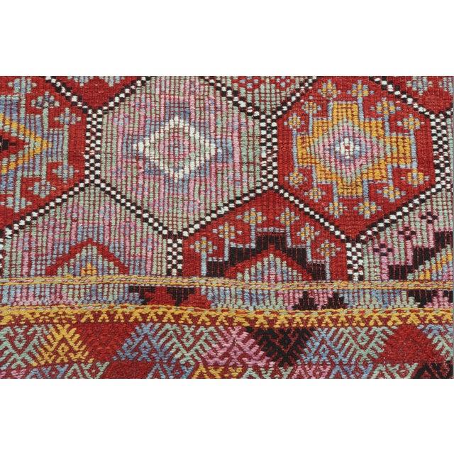 Vintage Turkish Fethiye Nomad's Flat Weave Rug For Sale - Image 10 of 12