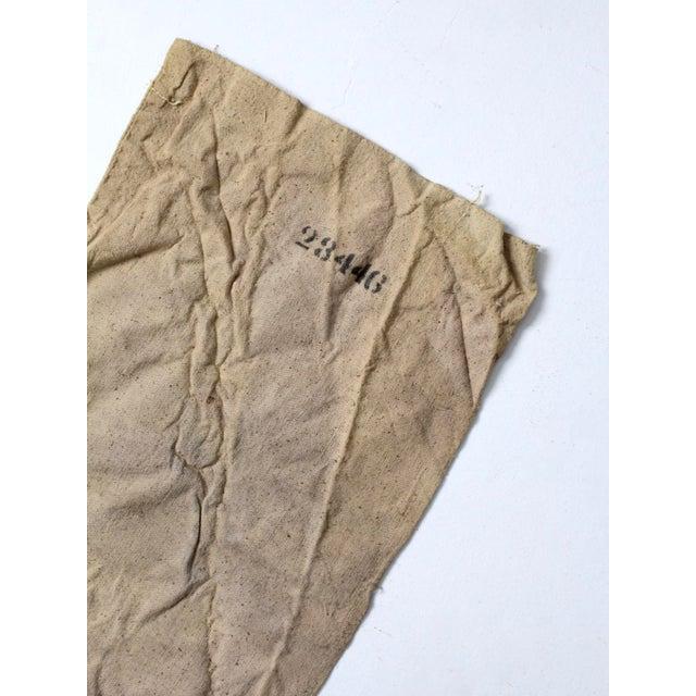 Vintage Seed Sack Bag For Sale - Image 4 of 6