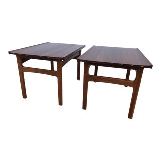 Dux Danish Modern Walnut Side Tables - a Pair For Sale