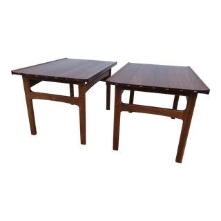 Dux Danish Modern Walnut Side Tables - a Pair