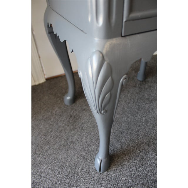 Country French Charcoal Gray Side/End Table - Image 7 of 10
