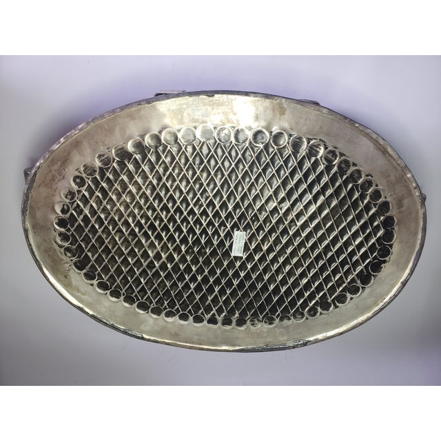 Vintage John Richard Collection Silver Plate Hammered Serving Tray For Sale - Image 9 of 13