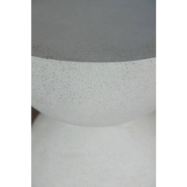 Cast Resin 'Bilbouquet' Side Table in White Stone Finish by Zachary A. Design For Sale - Image 4 of 6
