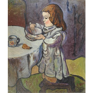 Student Copy Picasso Girl Stirring Bowl Painting For Sale