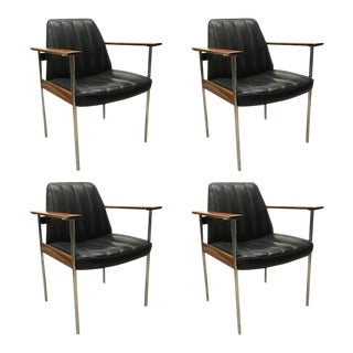 Mid Century Armchairs by Sven Ivar Dysthe for Dokka - Set of 4