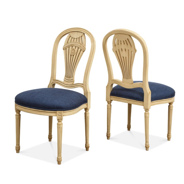 1940s Vintage Balloon Back Chairs- Set of 4 For Sale - Image 4 of 5