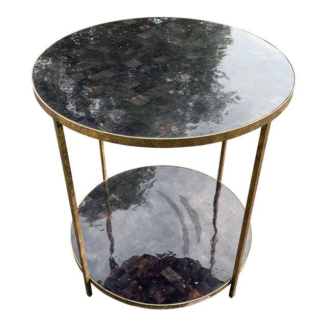 Oly Studios Jonathan Tortoise Shell Side Table For Sale