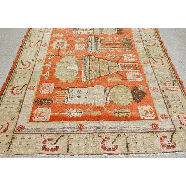 """Antique Khotan Rug,5'x8'5"""" For Sale - Image 4 of 7"""