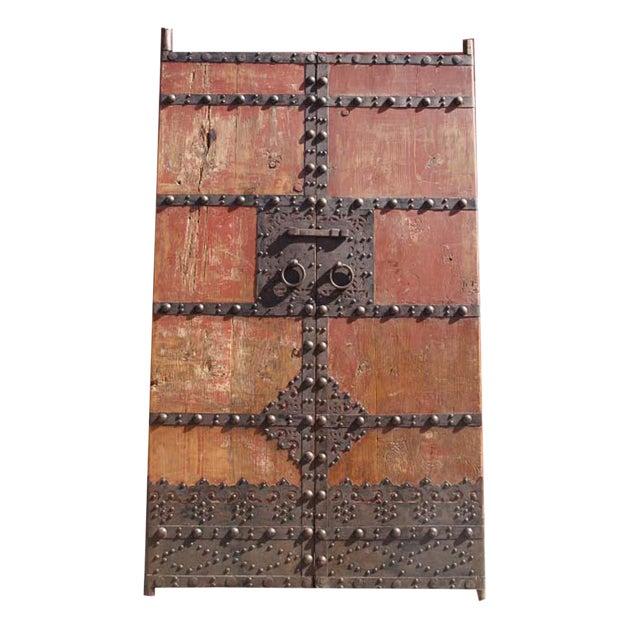 Antique Mongolian Wooden Garden Gate For Sale