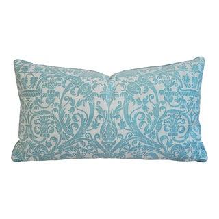 Jumbo Custom Italian Mariano Fortuny Uccelli Lumbar Pillow For Sale