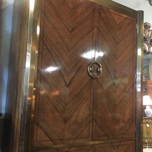 Mastercraft Zebrano Wood Armoire - Image 7 of 10