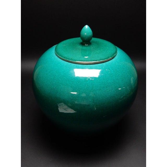 Chinese Crackle Glazed Ginger Jar - Image 10 of 11