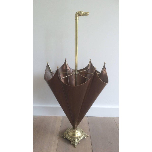1940s, French Brass Umbrella Stand - Image 8 of 11