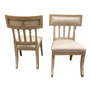 19th Century Vintage Swedish Side Chairs - Pair For Sale