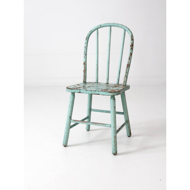 Vintage Children's Spindle Back Chair For Sale - Image 5 of 8