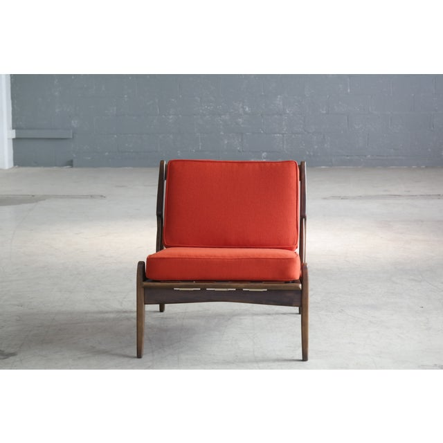 Mid-Century Modern Ib Kofod-Larsen Lounge or Slipper Chair Danish Midcentury For Sale - Image 3 of 11