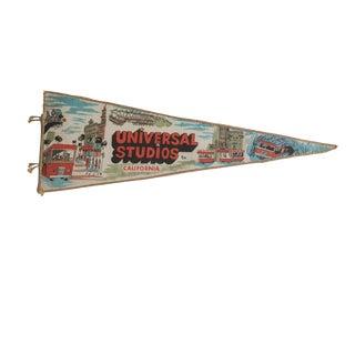 Vintage Universal Studios California Felt Flag Pennant For Sale
