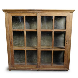 Vintage Teak Colonial Display Cabinet Preview