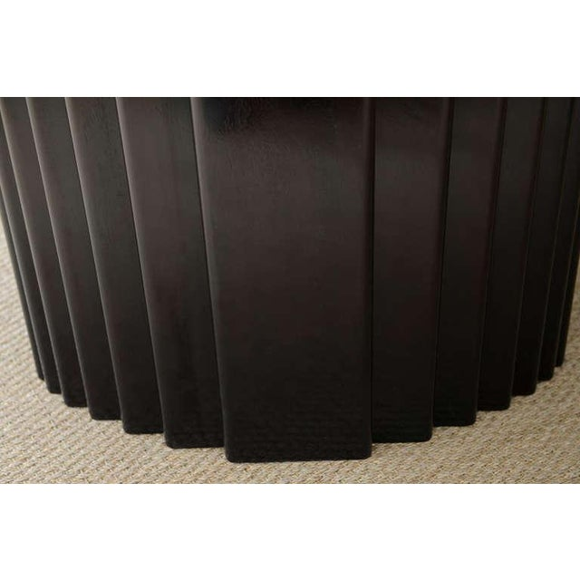 Signed Rothlisberger Ebonized Oval Sculptural And Fluted Dining Table For Sale In Miami - Image 6 of 11