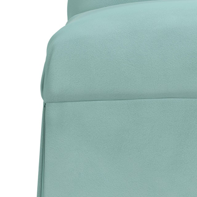 Not Yet Made - Made To Order Slipcover Dining Chair in Velvet Caribbean For Sale - Image 5 of 8