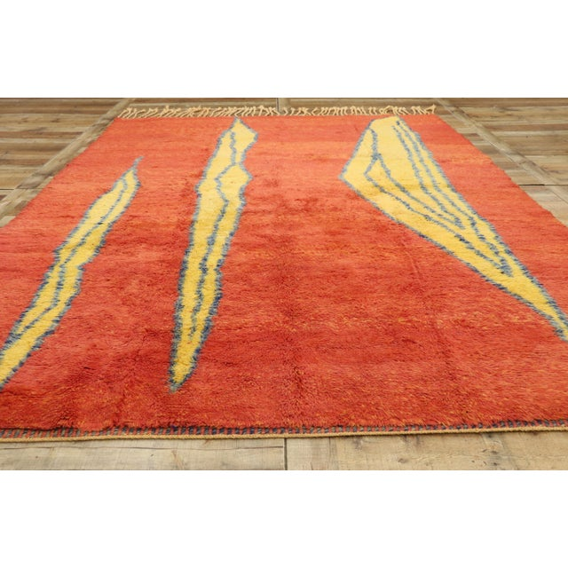 Textile Moroccan Contemporary Rug Inspired by Paul Klee - 07'01 X 09'09 For Sale - Image 7 of 10