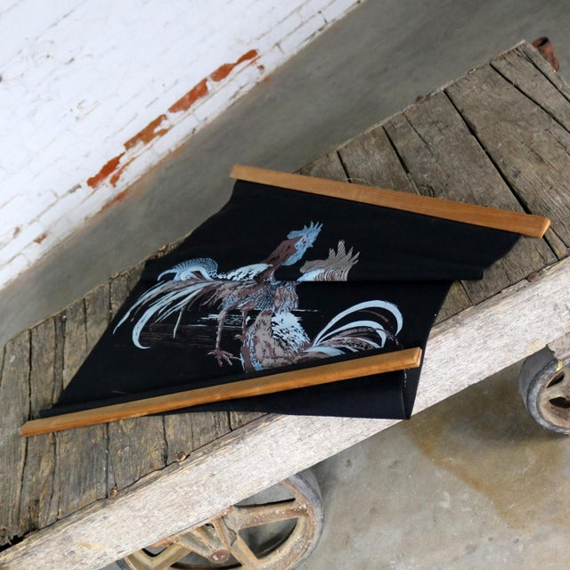 Robert Bushong Silkscreen Wall Scroll Chanticleer for Tom Tru Raymor Mid Century Modern For Sale - Image 10 of 13