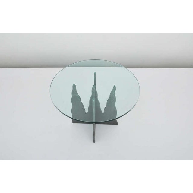 Pucci De Rossi Steel And Glass End Side Table - Image 5 of 6