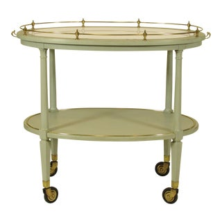 English Gray Painted Tea Cart