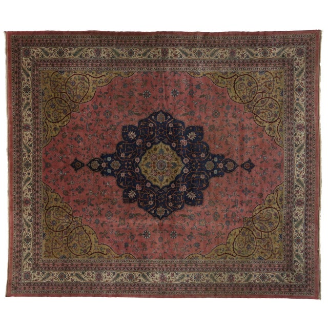 Early 20th Century Vintage Turkish Sparta Rug - 13'00 X 15'00 For Sale - Image 5 of 5
