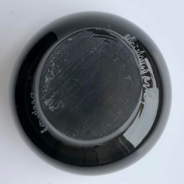 Modern Modern Black Glass Mini Bowl For Sale - Image 3 of 4