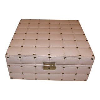 Global Views Pink Leather Nailhead Box