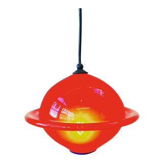 Red Studio Blown Glass Pendent Light