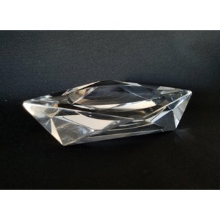 Art Deco Crystal Diamond Cut Ashtray Preview
