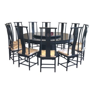 Grand Contemporary Asian Dining Room Set For Sale