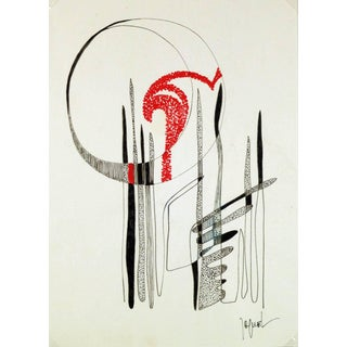 Jaquel, Ink Modern Abstract For Sale