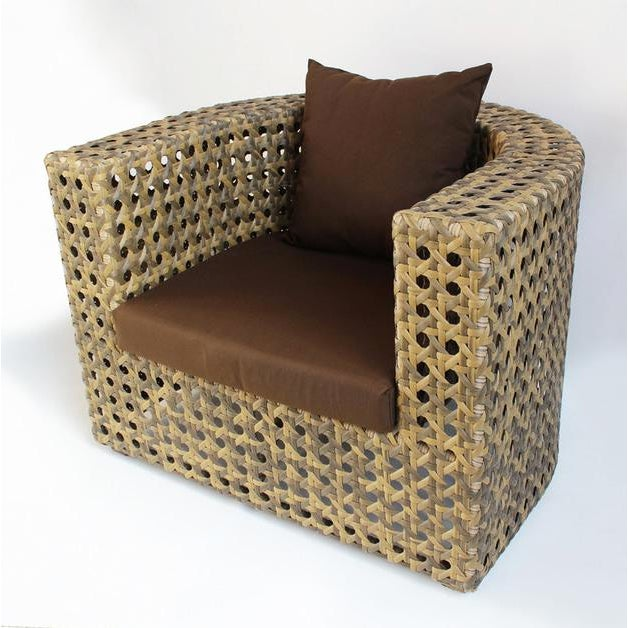 Outdoor Faux Rattan Club Chair - Image 2 of 3