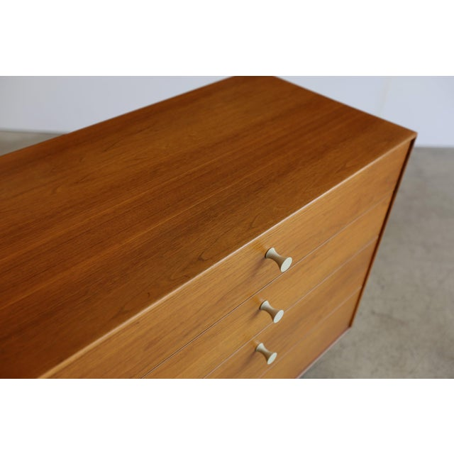 George Nelson thin edge four-drawer dresser for Herman Miller. Made in the mid 20th century from teak.