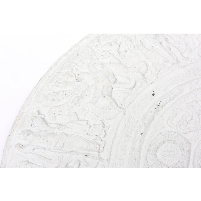 1990s Modern Versace Style White Plaster Resin Medallion For Sale In Miami - Image 6 of 10