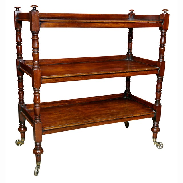 Regency Mahogany Book Trolley For Sale - Image 11 of 11